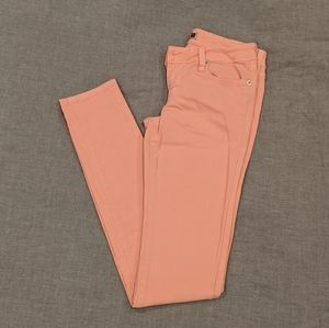 | light peach skinny jeans |